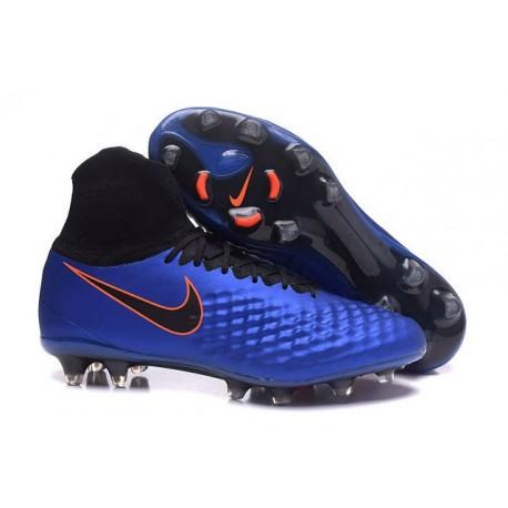 Nike Magista Obra II FG Nouveau Chaussures Foot Bleu Noir