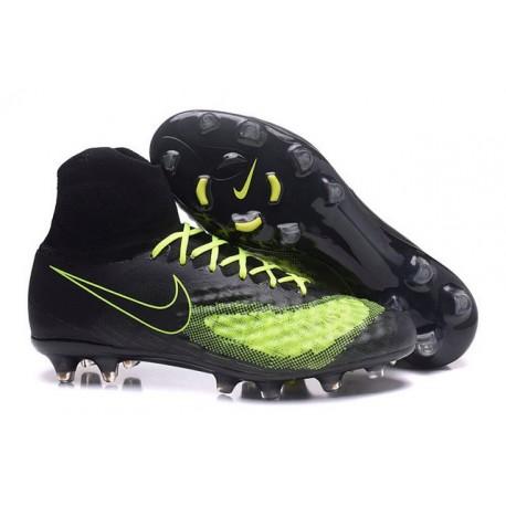 Nike Magista Obra II FG Nouveau Chaussures Foot Noir Jaune