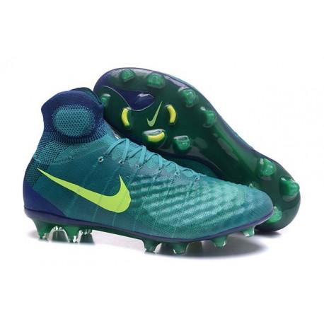 Nike Magista Obra II FG Nouveau Chaussures Foot Vert Jaune