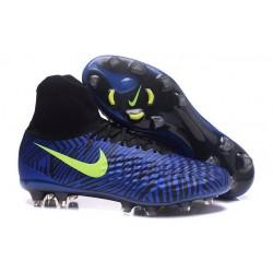 Nike Magista Obra II FG Nouveau Chaussures Foot Bleu Noir Jaune