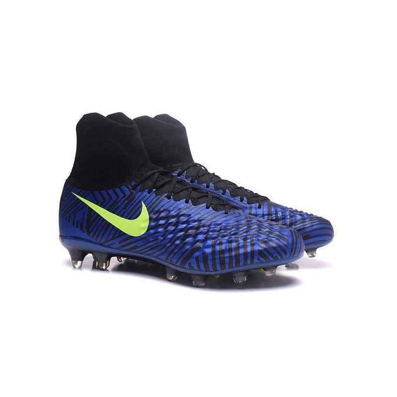 huge discount 3ceab 5e01c Nike Magista Obra II FG Nouveau Chaussures Foot Bleu Noir Jaune Zoom.  Précédent · Suivant