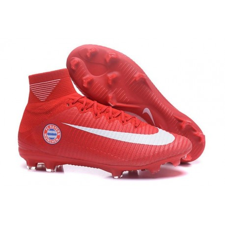 Nike Crampon Football Mercurial Superfly 5 FG FC Bayern München Rouge