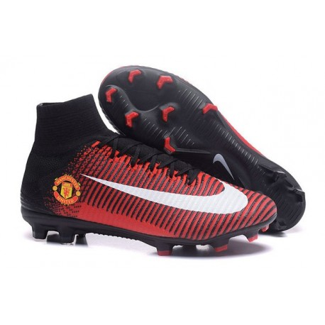Nike Mercurial Superfly V FG Chaussure de Foot Manchester United FC Rouge