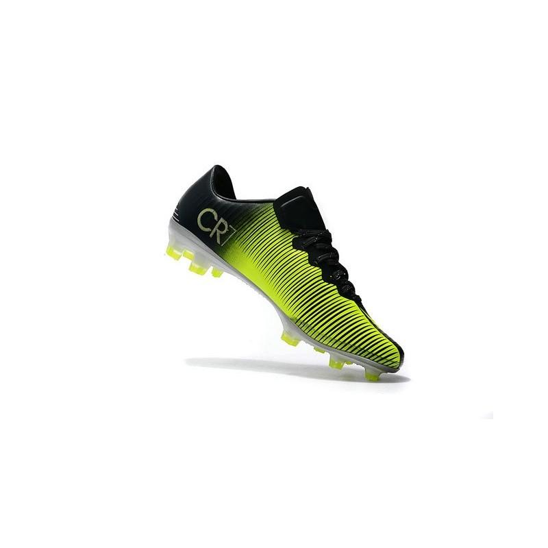half off c2056 b5afd Nike Mercurial Vapor XI FG ACC Chaussures Foot Noir Jaune Zoom. Précédent ·  Suivant