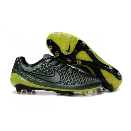 Nike Magista Opus FG Chaussure de Football Homme Vert Noir
