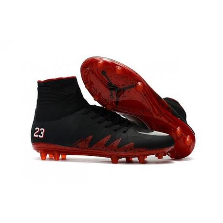 Crampon de Foot Neymar Jordan Nike HyperVenom Phantom II FG Noir Rouge