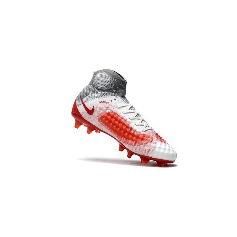 cheaper e8d58 a2028 Nouveau Obra Chaussures Ii Rouge Nike Foot Magista Fg Blanc