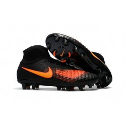 Nike Magista Obra 2 FG Homme 2017 Crampon de Football Noir Orange