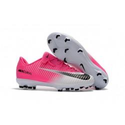 Nike Mercurial Vapor XI FG ACC Chaussures Foot Rose Blanc Noir