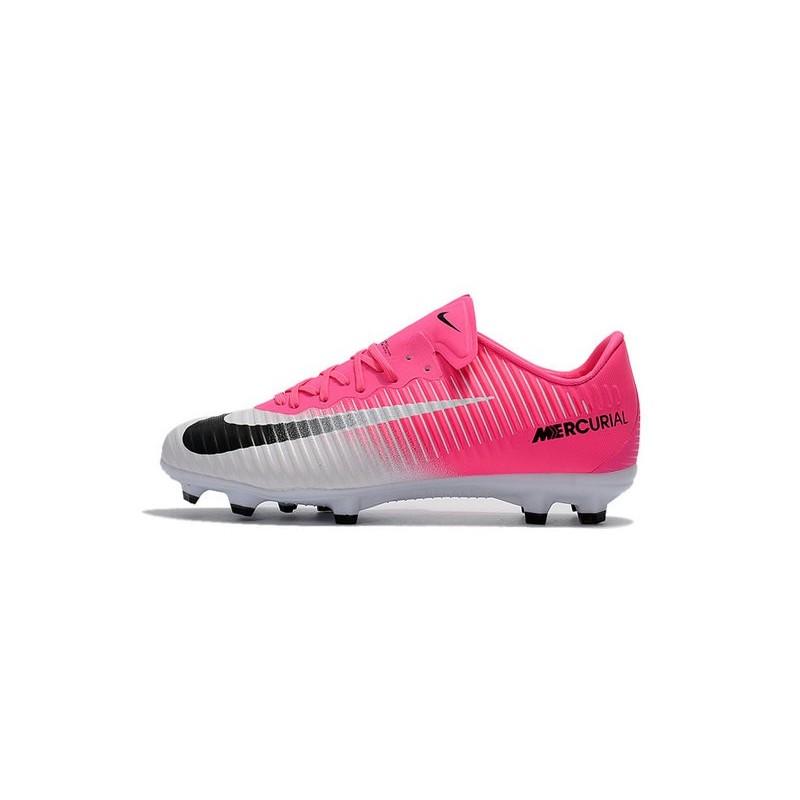 reputable site 17134 d25eb Nike Mercurial Vapor XI FG ACC Chaussures Foot Rose Blanc No
