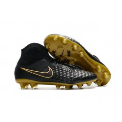 Nike Magista Obra 2 FG Homme 2017 Crampon de Football Noir Or