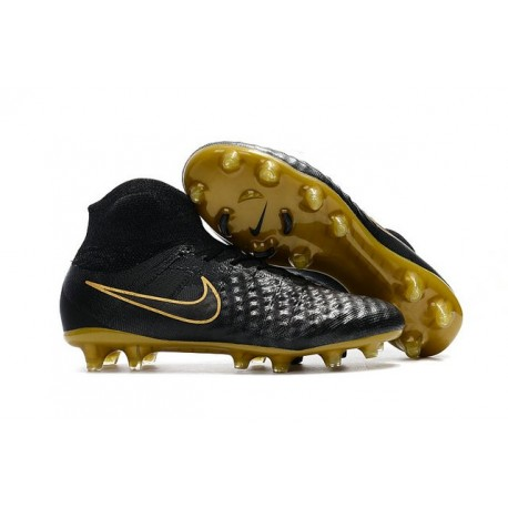 info for a6f0b bc5fd Nike Magista Obra 2 FG Homme 2017 Crampon de Football Noir Or