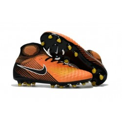 Nike Magista Obra 2 FG Homme 2017 Crampon de Football Orange Noir