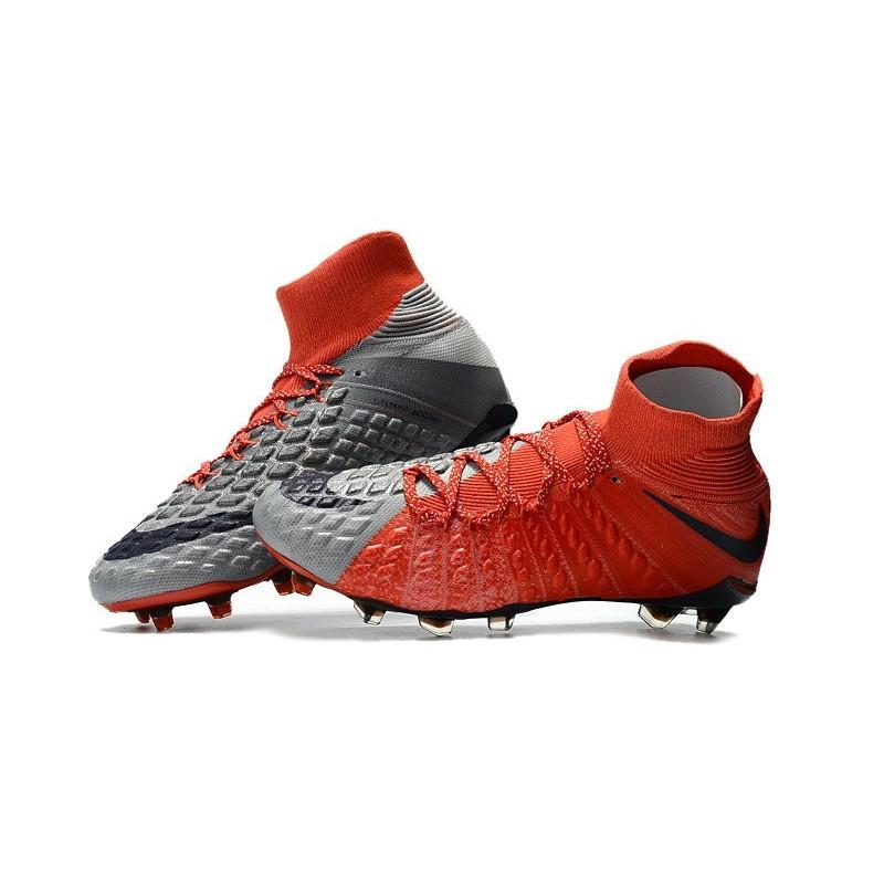 finest selection cdbc7 cd600 Gris De Chaussure Rouge Fg Hypervenom 3 Nike Phantom Foot 8q
