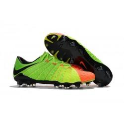 Nike Nouvel Chaussure Hypervenom Phantom 3 FG ACC Vert Orange