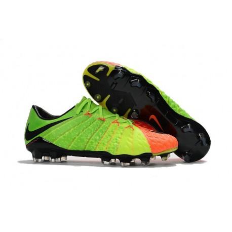 innovative design 782dc 2d22a Nike Nouvel Chaussure Hypervenom Phantom 3 FG ACC Vert Orange