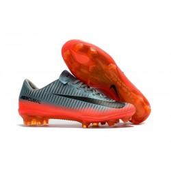 Nike Mercurial Vapor XI FG ACC Chaussures Foot Gris Orange Noir