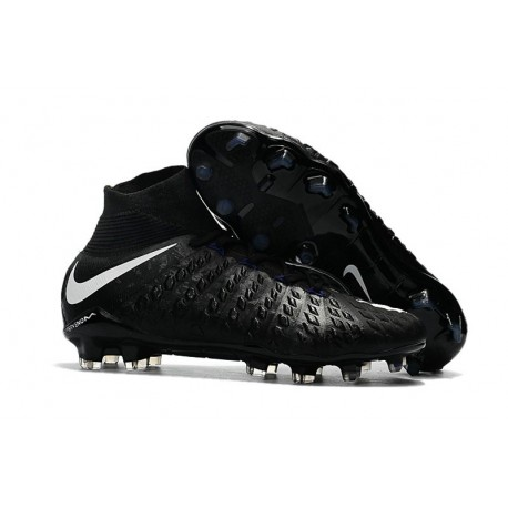 Chaussure de Foot Nike HyperVenom Phantom 3 FG Noir Blanc