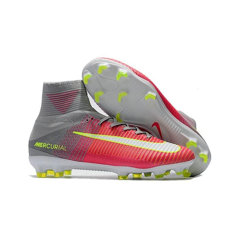 save off f1a4b 76a08 Nike Mercurial Superfly V FG Nouvelle Chaussures de Foot Rose Gris Zoom.  Précédent. Suivant