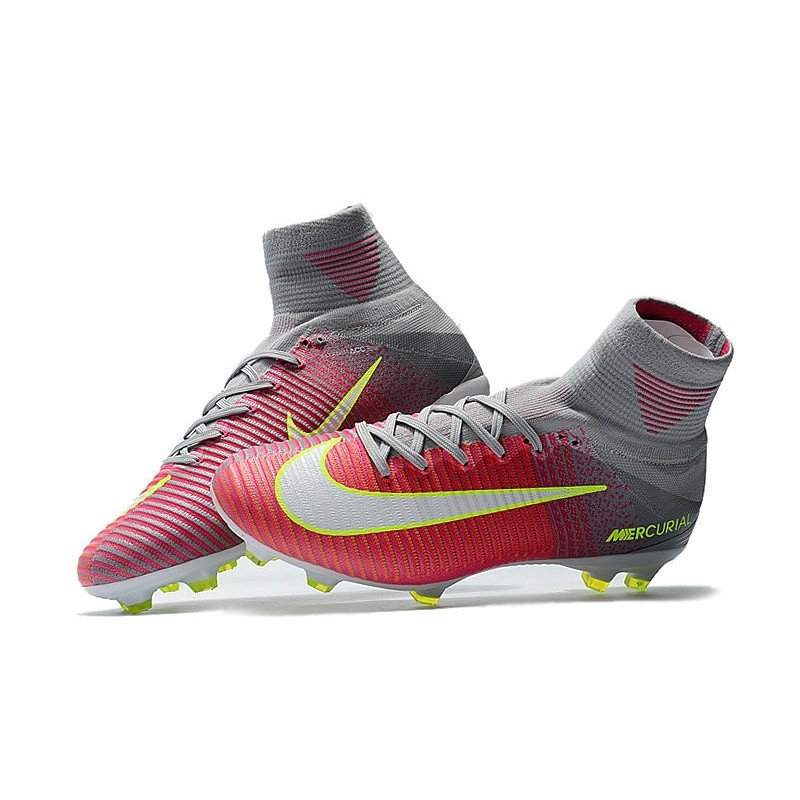 sale retailer 2e925 16076 Nike Mercurial Superfly V FG Nouvelle Chaussures de Foot Rose Gris Zoom.  Précédent · Suivant