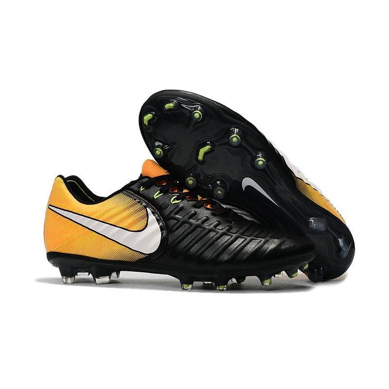 8ea6beb7d Chaussure de Foot Nouvelles Nike Tiempo Legend VII FG Cuir - Noir Jaune  Zoom. Précédent · Suivant