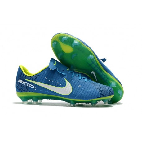 Nike Nouveau Crampon Football Mercurial Vapor 11 FG - Neymar Bleu