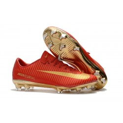 Nike Nouveau Crampon Football Mercurial Vapor 11 FG - Rouge Or