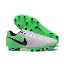 Nike Tiempo Legend 7 FG Kangourou Crampons Football - Blanc Vert Noir