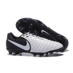 Nike Tiempo Legend 7 FG Kangourou Crampons Football - Blanc Noir