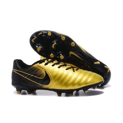 Nike Tiempo Legend 7 FG Kangourou Crampons Football - Or Noir