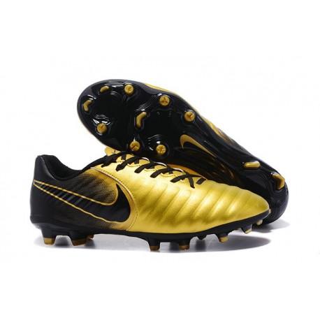 Nike Tiempo Legend 7 FG Kangourou Crampons Football - Or Noir