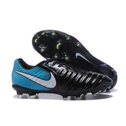 Nike Tiempo Legend 7 FG Kangourou Crampons Football - Noir Bleu