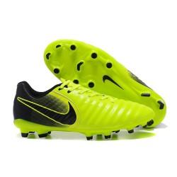 Nike Tiempo Legend 7 FG Kangourou Crampons Football - Vert Noir
