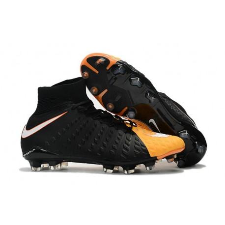 Nike Crampon Football Nouvel 2017 HyperVenom Phantom III DF FG Noir Jaune