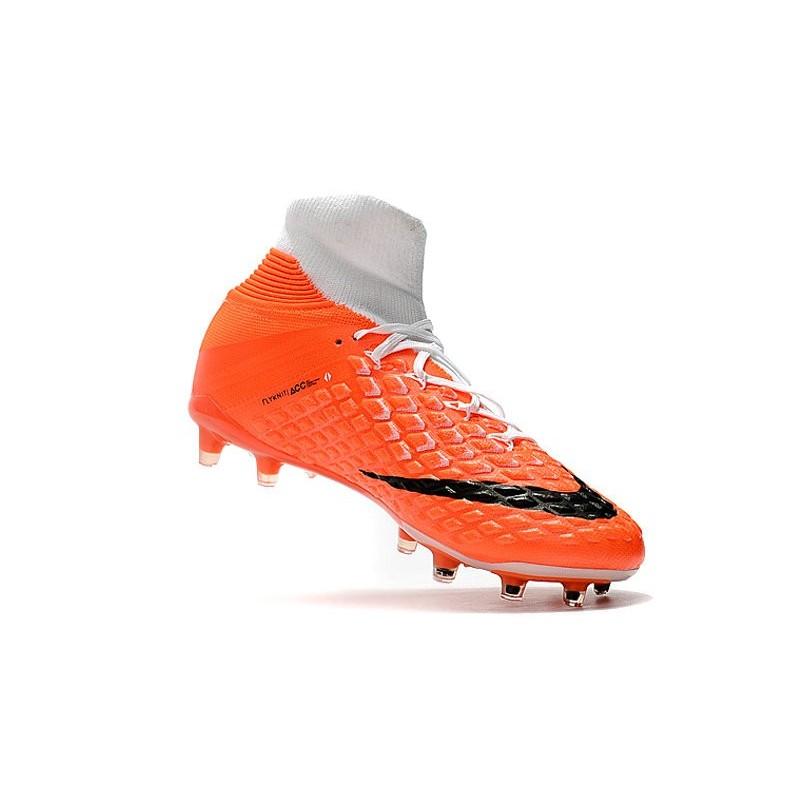 cf80e901f40ffa Nike HyperVenom Phantom 3 DF FG ACC Flyknit Chaussures - Blanc Orange Zoom.  Précédent · Suivant