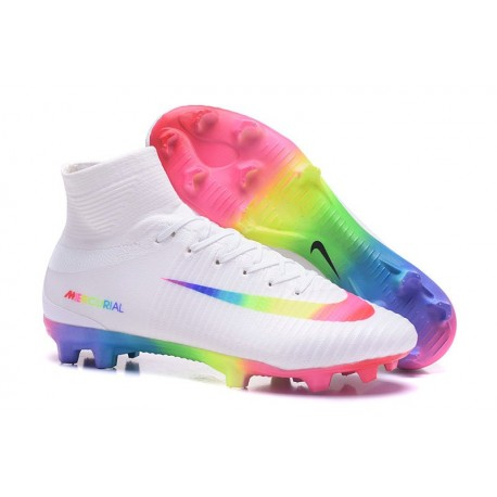 Nike Mercurial Superfly 5 FG Nouvel Chaussure Football - Blanc Coloré