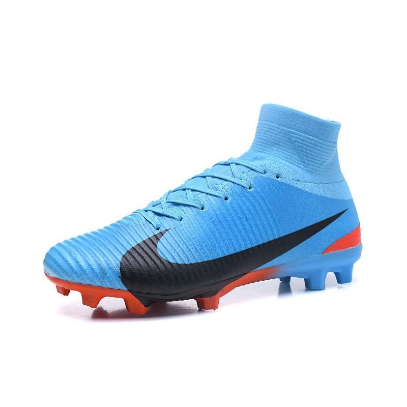 purchase cheap 3d5d8 029f4 Nike Mercurial Superfly 5 FG Nouvel Chaussure Football - Bleu Noir Zoom.  Précédent. Suivant
