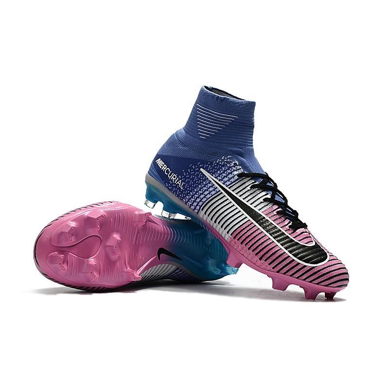 reputable site 27dbd e46c5 Nike Mercurial Superfly 5 FG Nouvel Chaussure Football - Bleu Rose Noir  Zoom. Précédent · Suivant