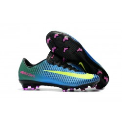 Nike Mercurial Vapor XI FG ACC Chaussures - Bleu Jaune