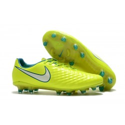 Nike Chaussure Foot Magista Opus II FG Homme Jaune Blanc
