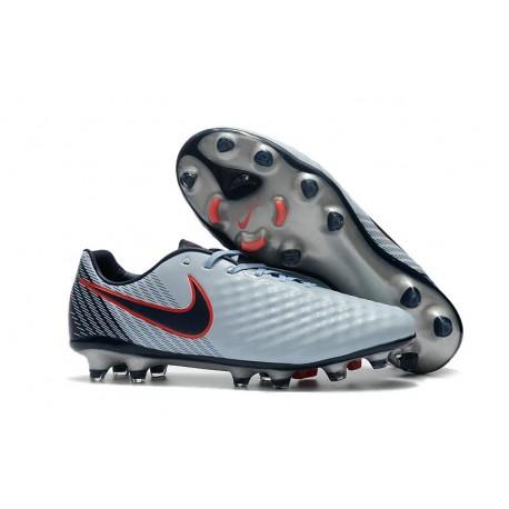 Nike Chaussure Foot Magista Opus II FG Homme Gris Noir