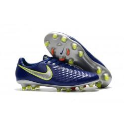 Nike Chaussure Foot Magista Opus II FG Homme Bleu Argent