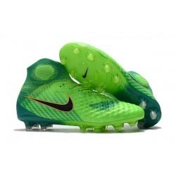 Chaussure de Foot Nouvelles Nike Magista Obra II FG - Vert Noir