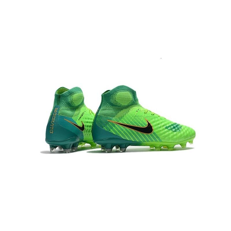 best service 51713 50c1e Chaussure de Foot Nouvelles Nike Magista Obra II FG - Vert Noir Zoom.  Précédent · Suivant