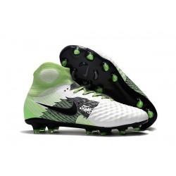 Chaussure de Foot Nouvelles Nike Magista Obra II FG - Blanc Noir Vert
