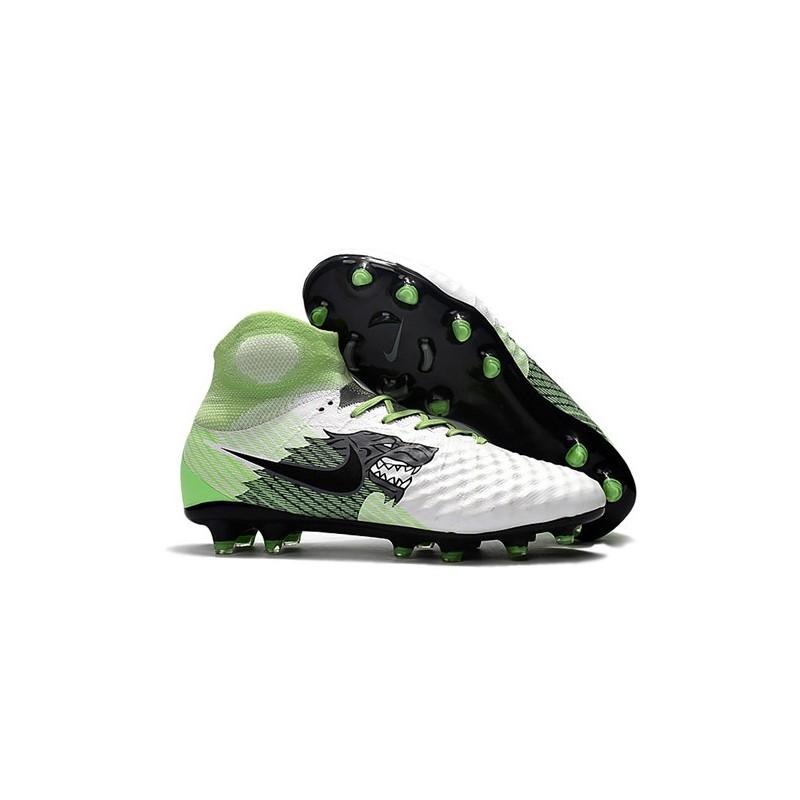best sneakers 99590 021be Chaussure de Foot Nouvelles Nike Magista Obra II FG - Blanc Noir Vert Zoom.  Précédent. Suivant