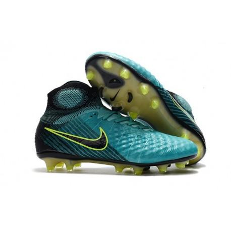 Chaussure de Foot Nouvelles Nike Magista Obra II FG - Bleu Noir