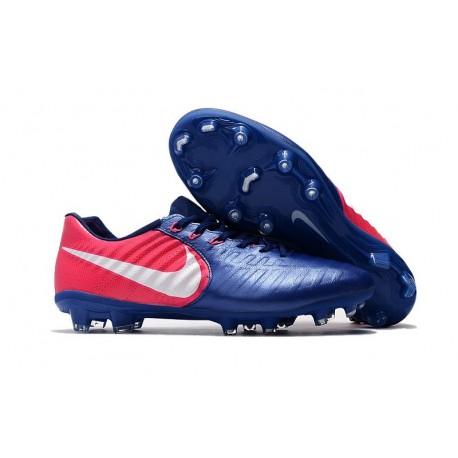 Nike Tiempo Legend 7 FG Kangourou Crampons Football - Bleu Rose