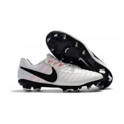 Chaussures Nouvel Nike Tiempo Legend VII FG ACC - Blanc Noir