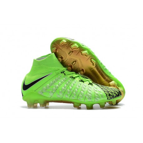 new product 0605a 52757 Crampons de Foot Nike HyperVenom Phantom III DF FG - Vert Noir